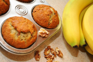 25628237 - fresh banana nut muffins cooling