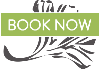 image for book now button which links to Selby Acupuncture's scheduling platform. The image shows a stylized ginko leaf on a transparent background and has a green ribbon with overlay text that reads - book now.